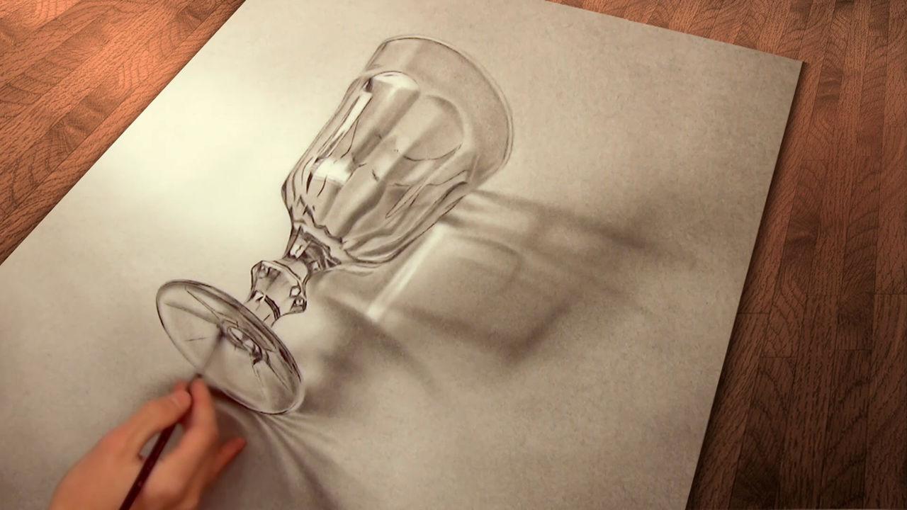 Malen Zeichnen 3d Realistische Illusions Malerei Zeichnung