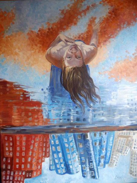 Impressionismus, Architektur, Abstrakt, Ölmalerei, Gemälde, Malerei