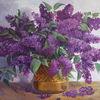 Stillleben, Gold, Flieder, Blumen