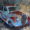 Abstrakt, Malerei, Auto, Ölmalerei