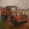 Gemälde, Malerei, Auto, Oldtimer