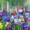 Gelb, Blumen, Violett, Stillleben