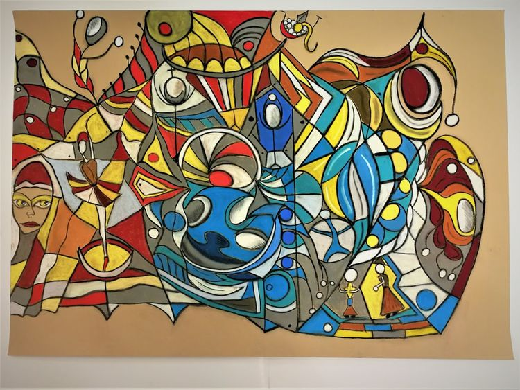 Abstrakt, Leuchtend, Bunt, Gestalt, Fantasie, Malerei