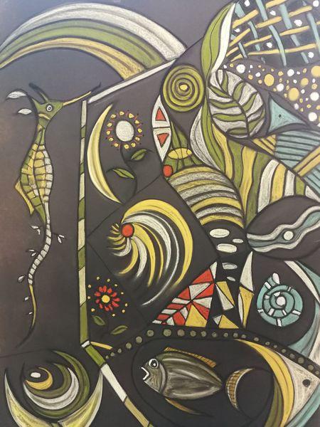 Fisch, Fantasie, Bunt, Abstrakt, Malerei