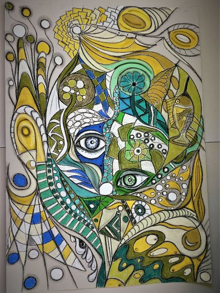Wortlos, Abstrakt, Bunt, Fantasie, Malerei