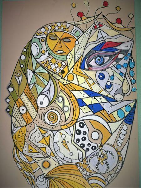 Abstrakt, Wortlos, Bunt, Kopf, Fantasie, Gesicht