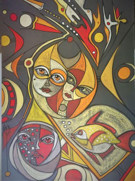 Abstrakt, Fisch, Gesicht, Fantasie, Rund, Kopf