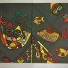 Abstrakt, Gestaltung, Bunt, Fisch