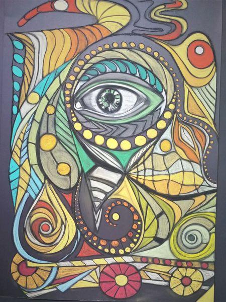 Abstrakt, Wortlos, Fantasie, Rund, Bunt, Malerei