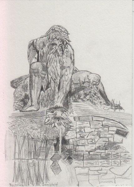 Urlaub, Villa demidoff, Zeichnung, Bleistiftzeichnung, Pratolino, Plain air