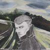 Landschaft, Pastellmalerei, Bleistiftzeichnung, Portrait