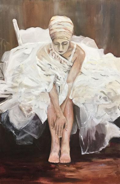 Tanz, Ölmalerei, Schwermütig, Schwestern, Traurig, Kleid