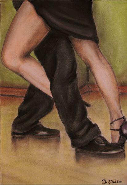 Tanz, Pastellmalerei, Bein, Tango, Malerei