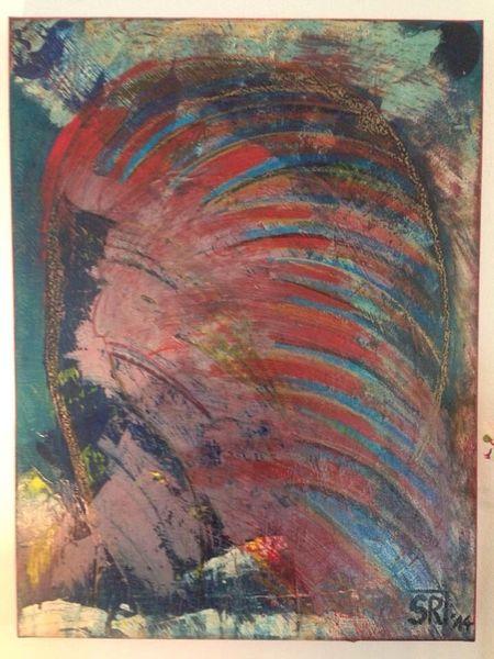 Malerei, Rot, Abbild, Acrylmalerei, Indianer, Abstrakt