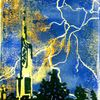 Turm, Gewitter, Blitz, Skyline frankfurt