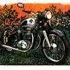 Oldtimer, Horex, Motorrad, Druckgrafik