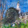 Schloss, Frühling, Bad homburg, Park