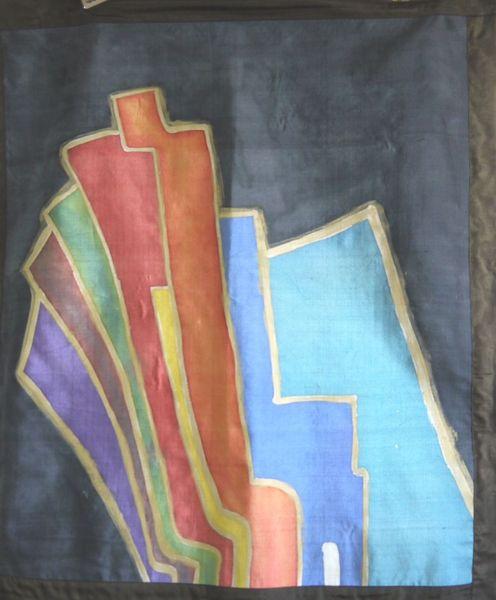 Farben, Seide, Hintergrund schwarz, Wandteppich, Seidenmalerei, Malerei
