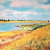 Landschaft, Stimmung, Farben, Aquarellmalerei