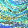 Element Wasser - Element, Wasser, Blut + Fühlen, Träume, Intuition - Loslassen, Urvertrauen, Leidenschaft, Unbegrenztheit, Schönheit, Freiheit, Fließen, Hingabe, Gefühle, (Westen), New tangle, Bea Kaiser, Cosmosart