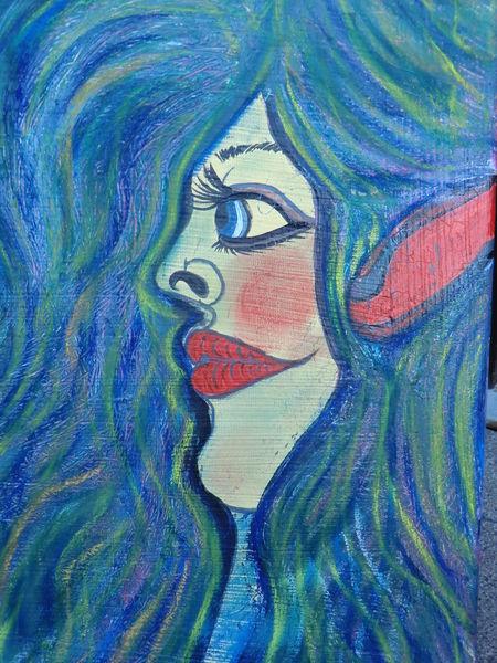 Mädel, Reiz, Weiblichkeit, Malerei, Dame