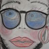 Frau, Jung, Besinnlichkeit, Malerei