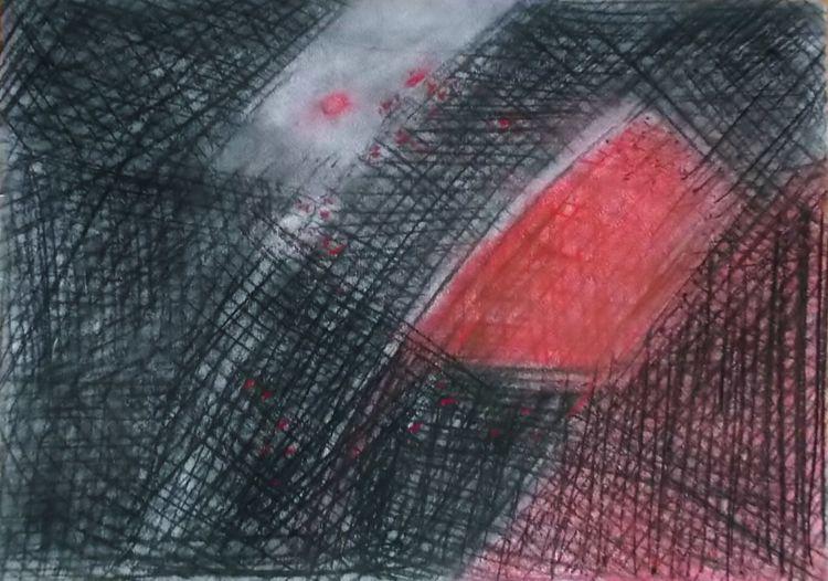 Kohlezeichnung, Zeichnungen, Rot