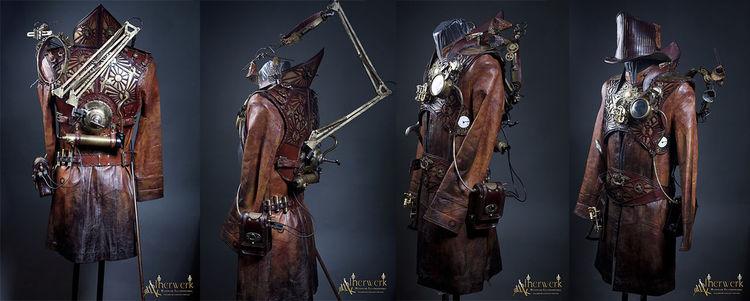 Zahnräder, Gothic, Kostüm, Steampunk, Rüstung, Messing