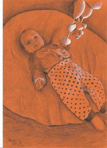 Licht, Orange, Spielzeug, Bett, Liegen, Baby