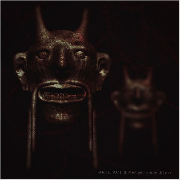 Rendering, Maske, Teufel, 3d, Bronze, Digitale kunst