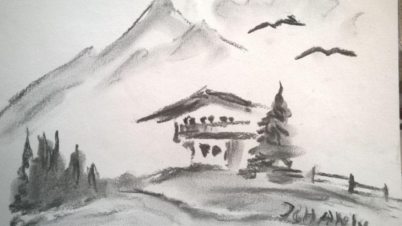 Außergewöhnlich Bild - Bleistiftzeichnung, Landschaft, Zeichnung, Zeichnungen von @MK_02