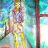 Einsamkeit - acryl, kunst, künstler, hintergrund, hintergründe, wunderschön, blau, pinsel, leinen, farbe, handwerk, entwurf, goldmedaille, grün, medien,Öl, originell, gemälde, muster, rosa, rot, spiegelung, gestalten, atelier, oberfläche, textur, weiß, gelb, Udo, vo