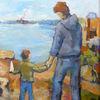 Vater, Vertrauen, Segelboot, Neugier