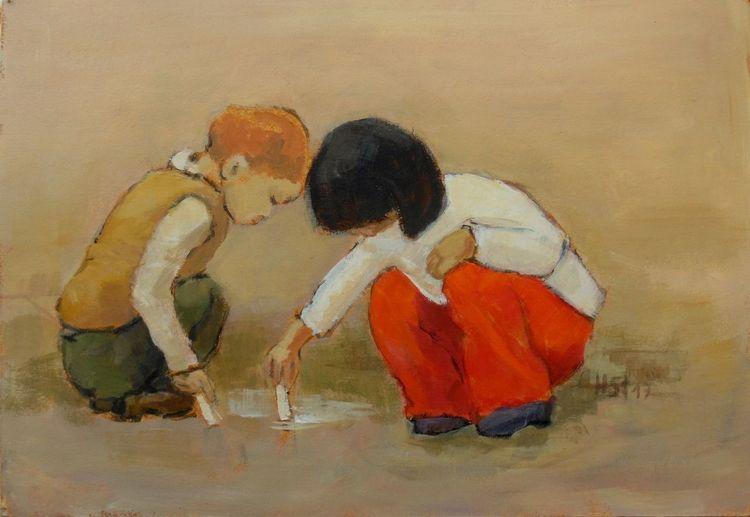 Cezanne, Kinder, Freude, Urlaub, Malerei, Begeisterung