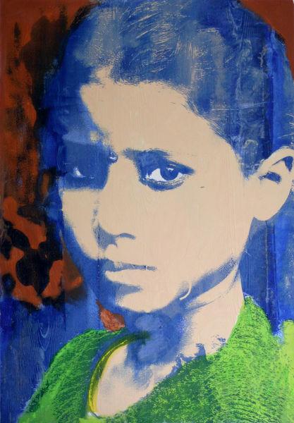 Siebdruck, Portrait, Kids, Nepal, Popart, Druckgrafik