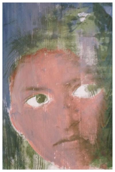 Portrait, Siebdruck, Kids, Nepal, Popart, Druckgrafik