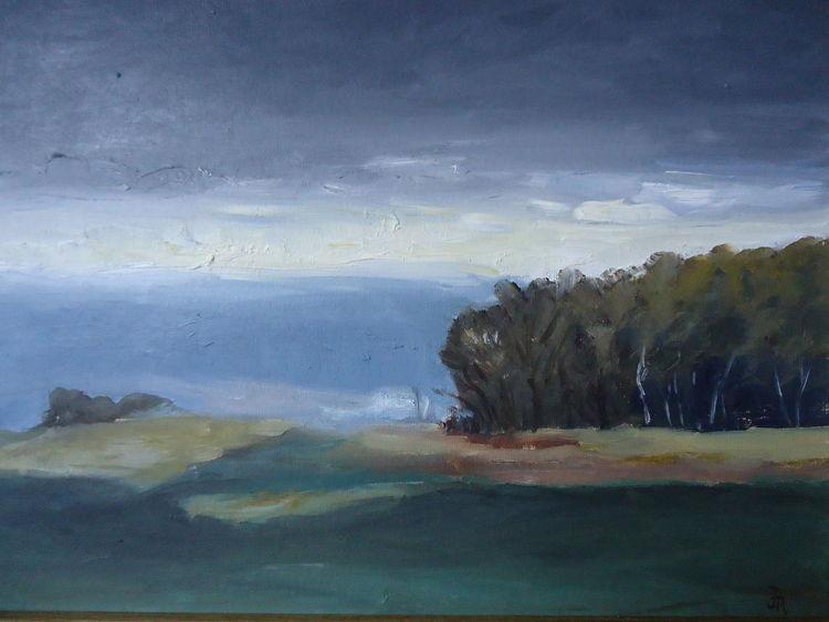 Himmel, Landschaft, Wald, Baum, Feld, Malerei
