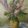 Lupinen und Iris