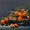 Schale, Ölmalerei, Aprikose, Äste