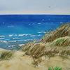 Dünen, Sand, Aquarell