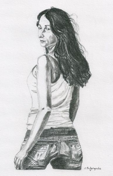 Zeichnung, Rückblick, Menschen, Zeichnungen,