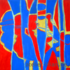 Dekoration, Abstrakt, Design, Rot