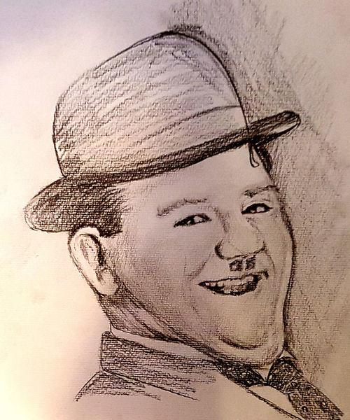 Stummfilm, Berühmt, Dick und doof, Oliver hardy, Schwarz weiß, Zeichnungen
