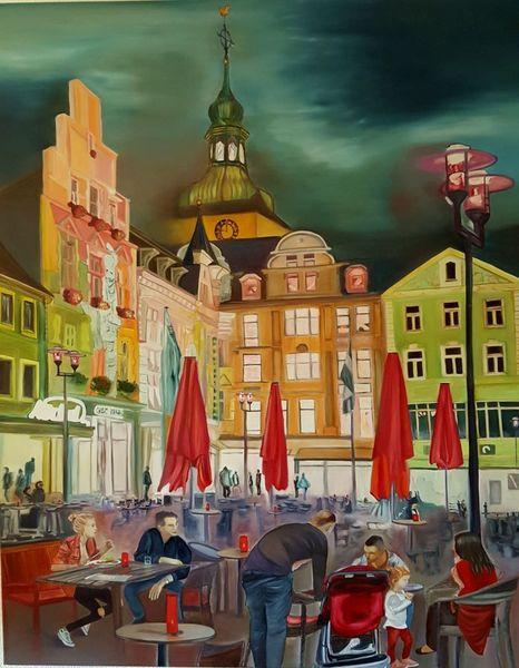 Menschen, Ölmalerei, Nacht, Malerei, Kasyanov, Licht