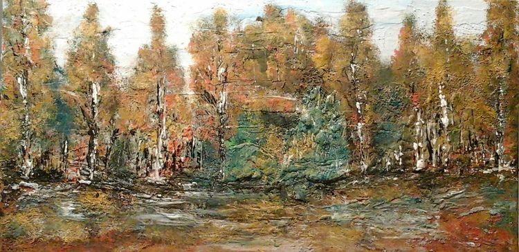 Farben, Herbst, Wind, Baum, Regen, Laub