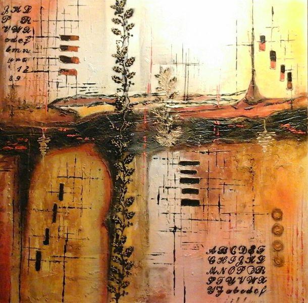 Abstrakte acryl bild, Abstrakt, Mischtechnik, Malerei, Gruß,
