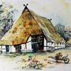 Fischerhaus, Fachwerk, Reetdack, Alt