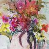 Blumen, Keramik, Vase, Malerei