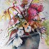 Strauß, Rot, Wiese, Blüte