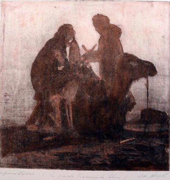 Kupferplatte, Fotografie, Radierung, Druckgrafik, Sahara, Grande